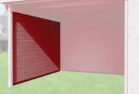 Seitenwand 21 mm, für Haustyp 126 und 172 schwedenrot, Tiefe 235 cm