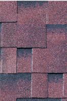 Karibu Dachschindeln Asymmetrisch rot-geflammt