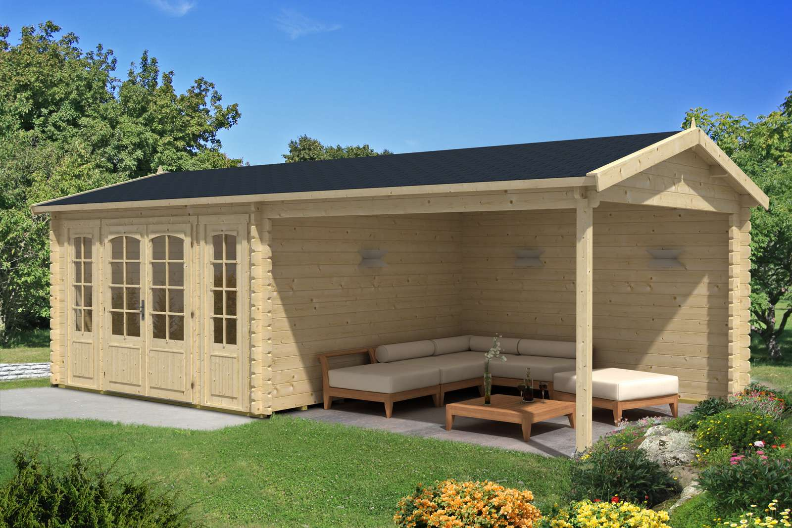 gartenhaus 12m2 my blog. Black Bedroom Furniture Sets. Home Design Ideas