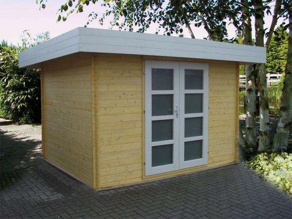 flachdach gartenhaus modell modern b 122202 2. Black Bedroom Furniture Sets. Home Design Ideas