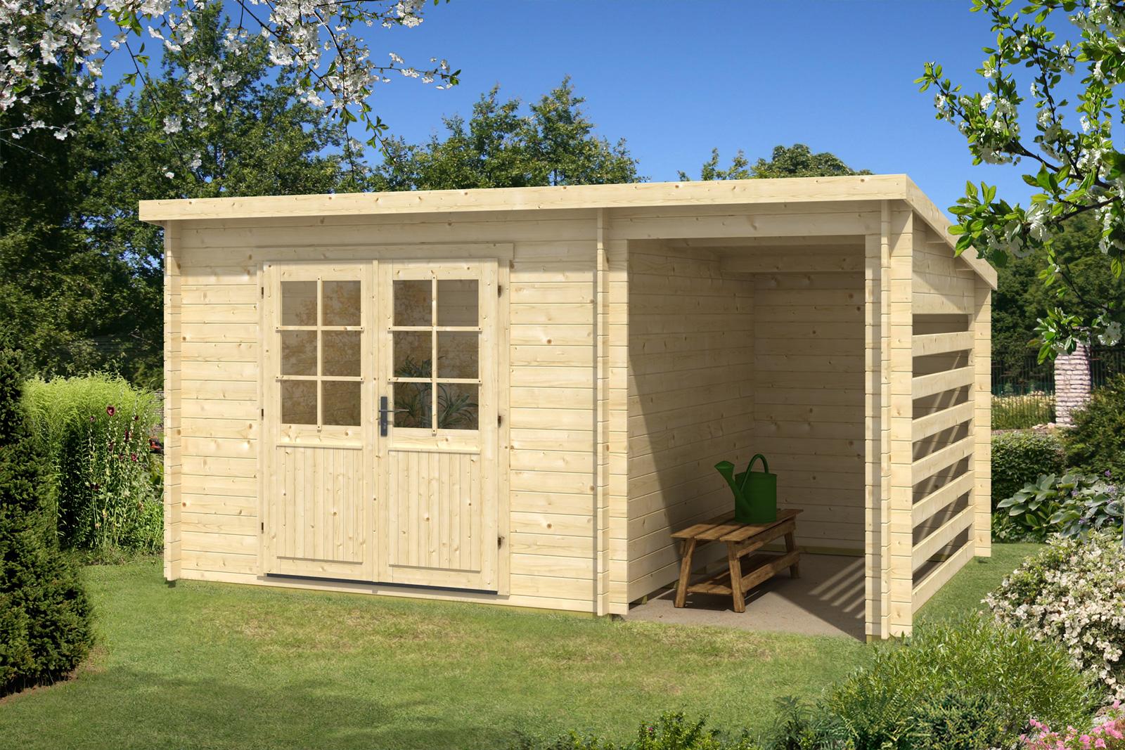 carlsson gartenhaus maria 28 compact. Black Bedroom Furniture Sets. Home Design Ideas