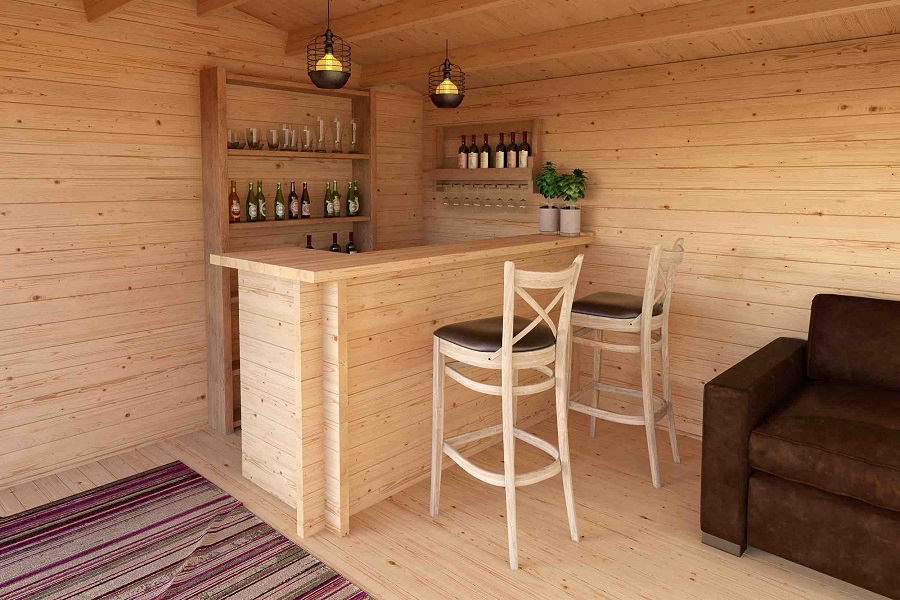 holz bar f r gartenhaus. Black Bedroom Furniture Sets. Home Design Ideas