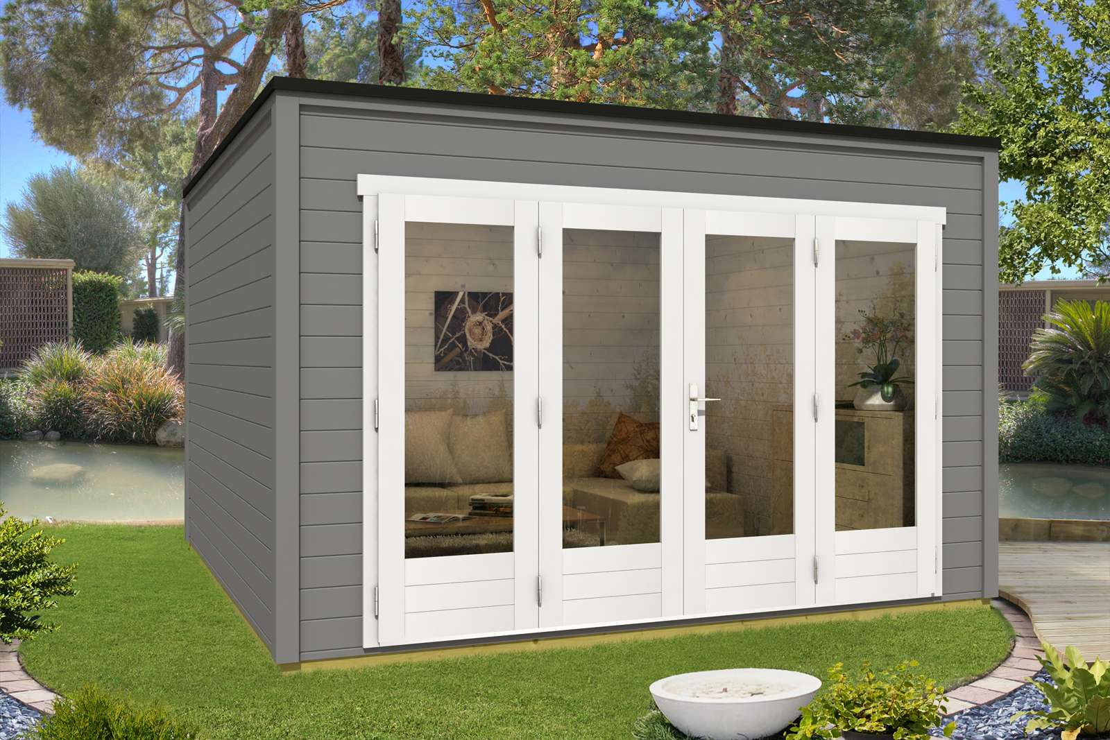gartenhaus heizen gasheizung aussenwand fhaus wohnung gartenhaus garage werkstatt with. Black Bedroom Furniture Sets. Home Design Ideas