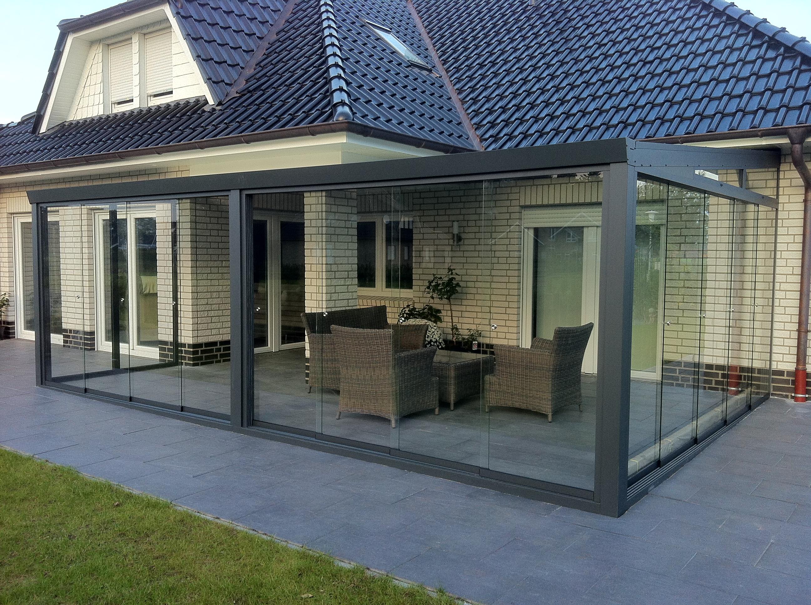 gartenzimmer 400 x 350 cm inkl glasschiebew nde und keilfenster. Black Bedroom Furniture Sets. Home Design Ideas