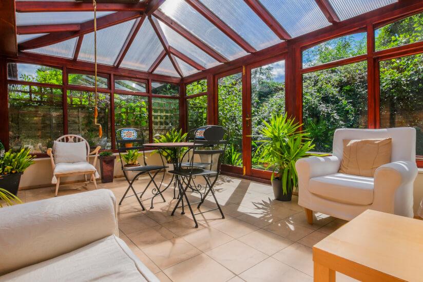 Extrem Terrassenüberdachung aus Polycarbonat, Acryl oder Glas? IE55