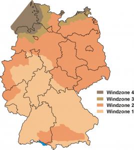 Windkartenzone Deutschland