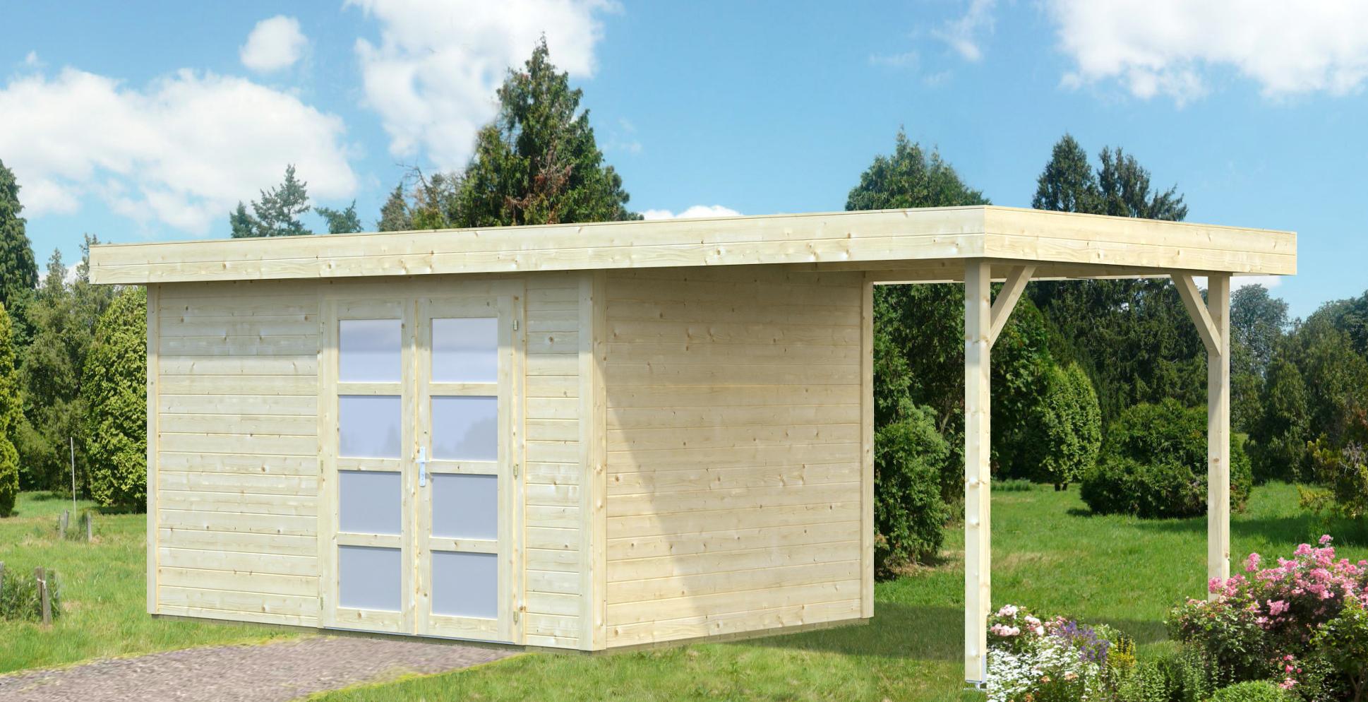 palmako gartenhaus lara 8 4 5 9 m frb28 5925. Black Bedroom Furniture Sets. Home Design Ideas