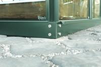Stahlfundamentrahmen 6700, 6cm, smaragd
