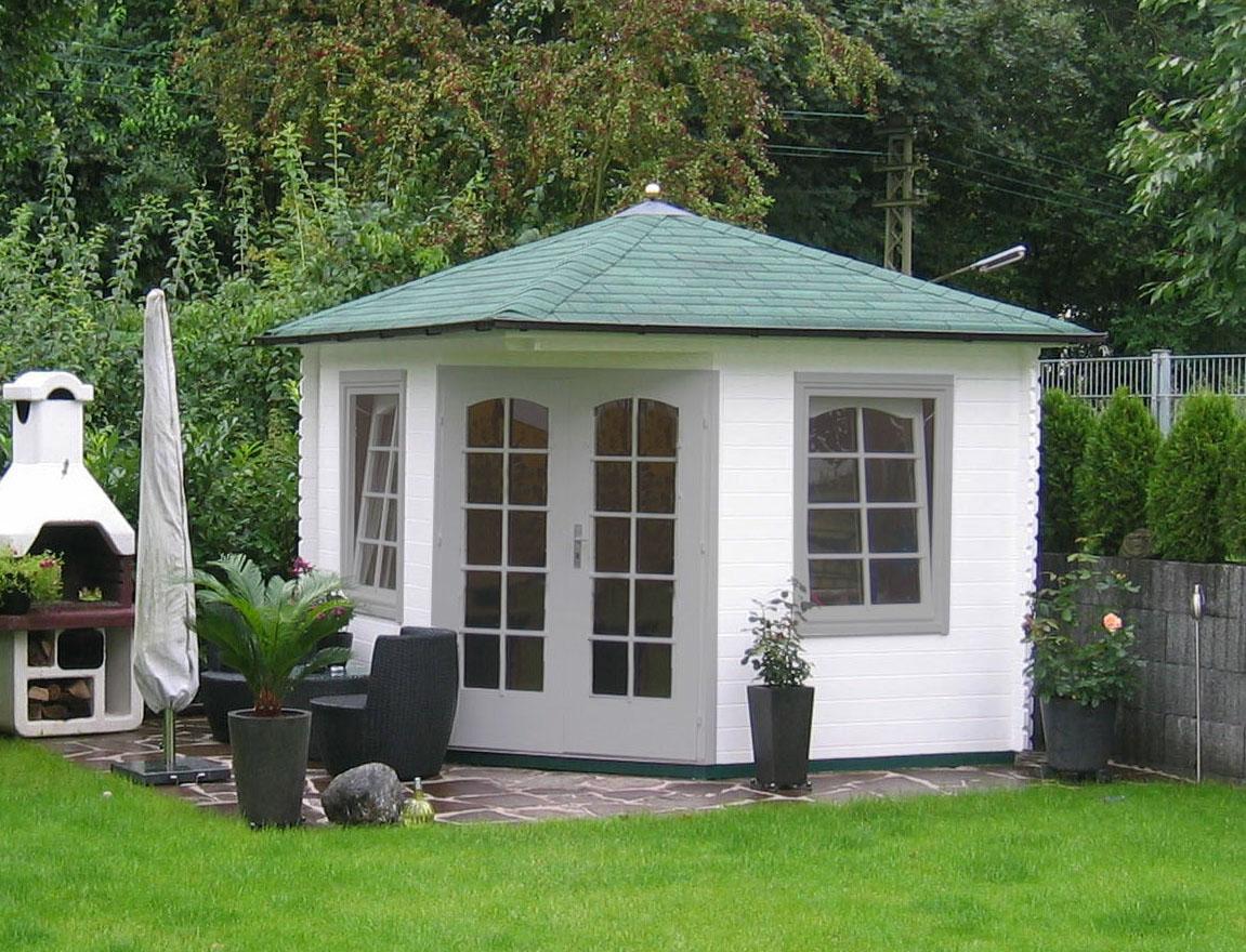 5 eck gartenhaus viking 28. Black Bedroom Furniture Sets. Home Design Ideas