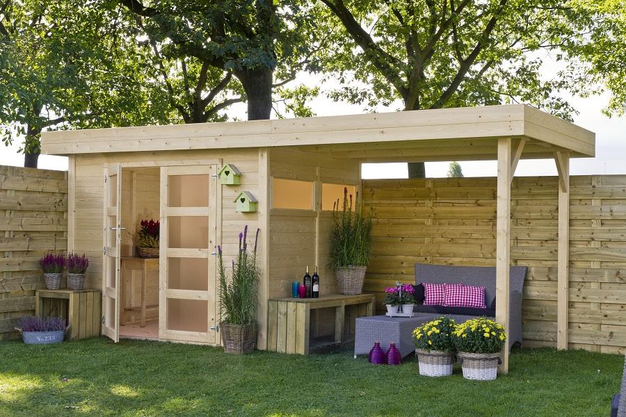 flachdach gartenhaus vera berdachung. Black Bedroom Furniture Sets. Home Design Ideas