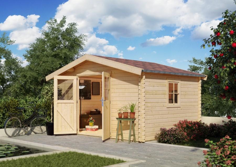 karibu gartenhaus grado 1 2. Black Bedroom Furniture Sets. Home Design Ideas