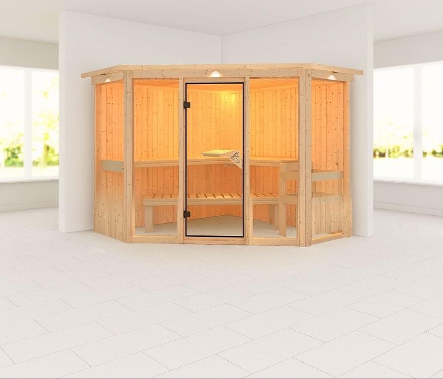 karibu sauna innenkabine flora. Black Bedroom Furniture Sets. Home Design Ideas