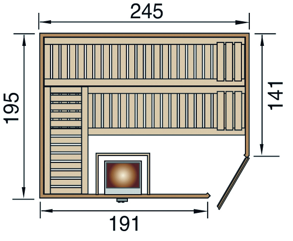 weka massivholzsauna turku ht. Black Bedroom Furniture Sets. Home Design Ideas