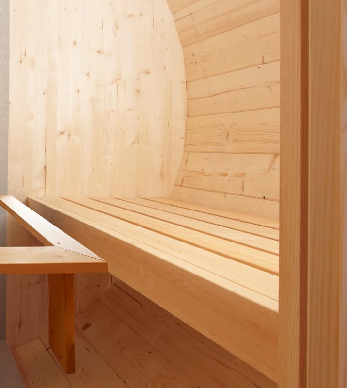 wolff finnhaus saunafass 280 de luxe thermoholz montiert. Black Bedroom Furniture Sets. Home Design Ideas