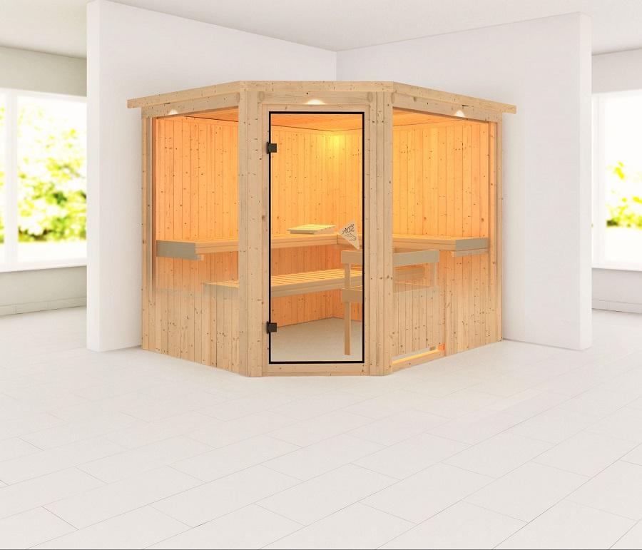 karibu sauna innenkabine farin. Black Bedroom Furniture Sets. Home Design Ideas