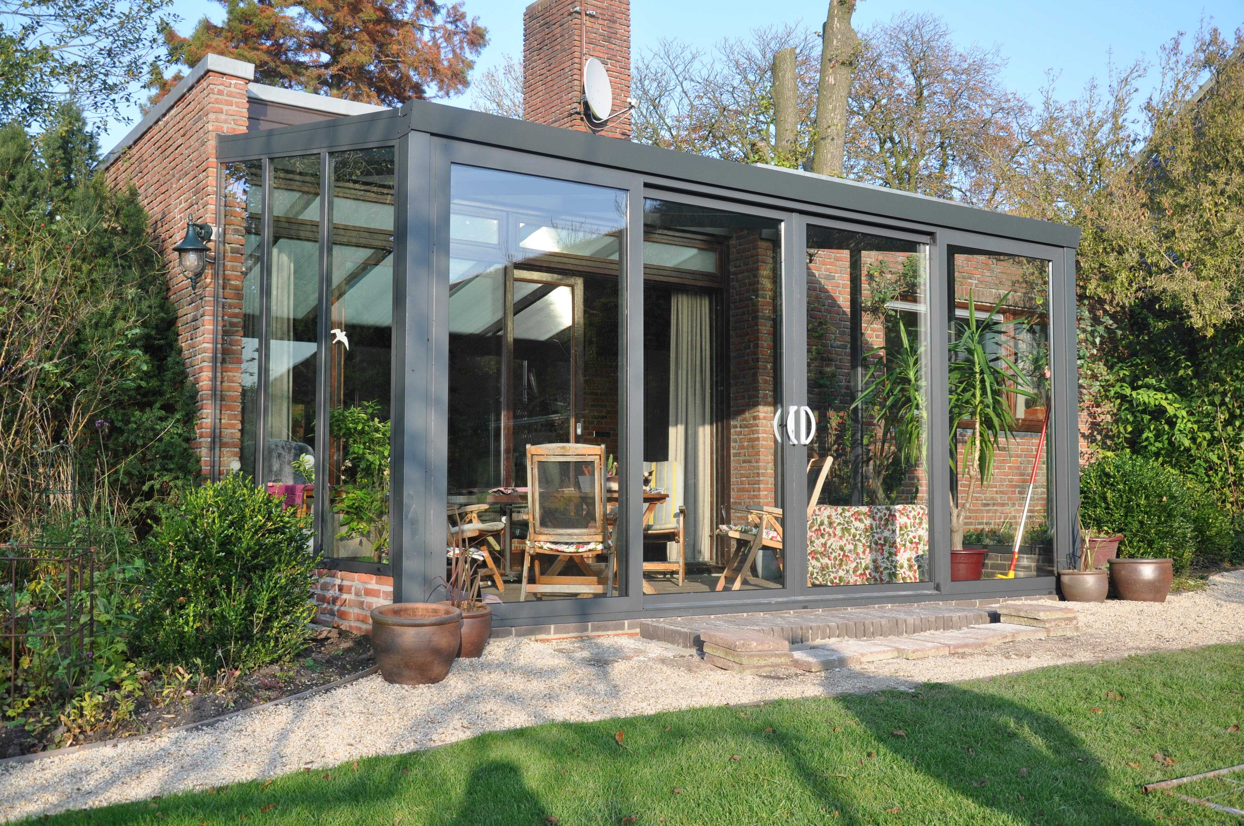 aluminium gartenzimmer 400 x 250 cm mit doppelt r. Black Bedroom Furniture Sets. Home Design Ideas