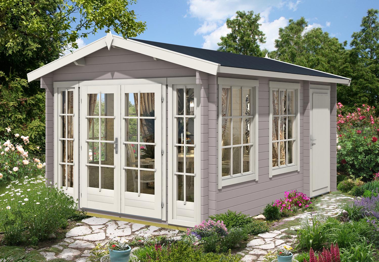 gartenhaus kim 40. Black Bedroom Furniture Sets. Home Design Ideas