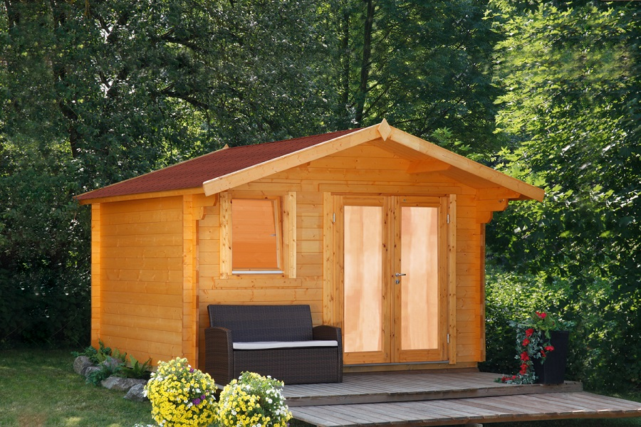 wolff gartenhaus oslo 34 f modern 834 315. Black Bedroom Furniture Sets. Home Design Ideas