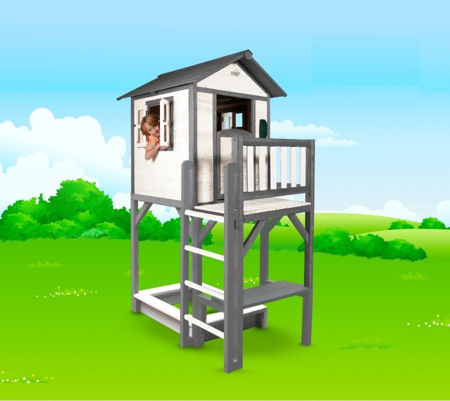 spielhaus lodge xxl mit sandkasten und tisch. Black Bedroom Furniture Sets. Home Design Ideas