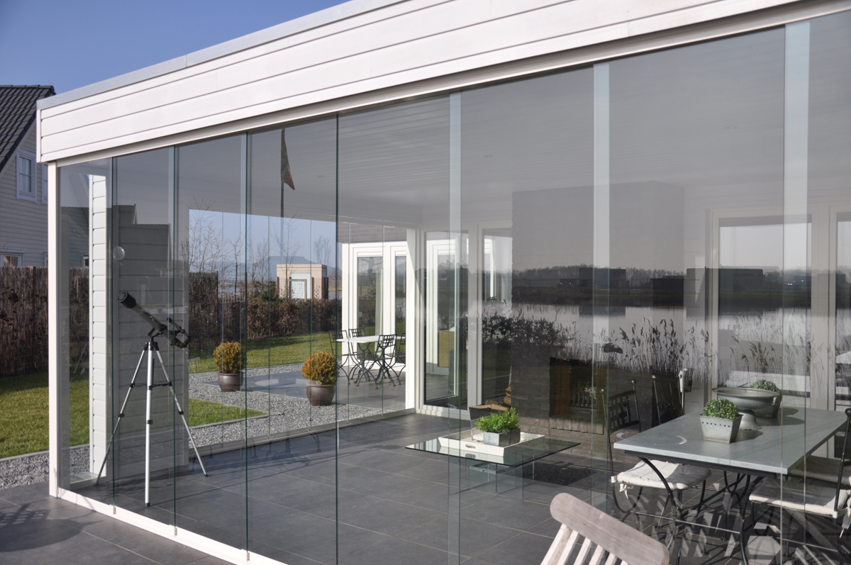glasschiebewand 500 cm. Black Bedroom Furniture Sets. Home Design Ideas