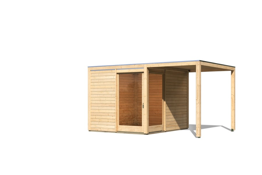 karibu gartenhaus qubu eck. Black Bedroom Furniture Sets. Home Design Ideas