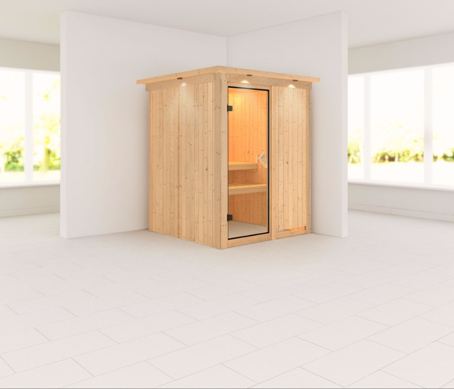 karibu sauna innenkabine minja. Black Bedroom Furniture Sets. Home Design Ideas