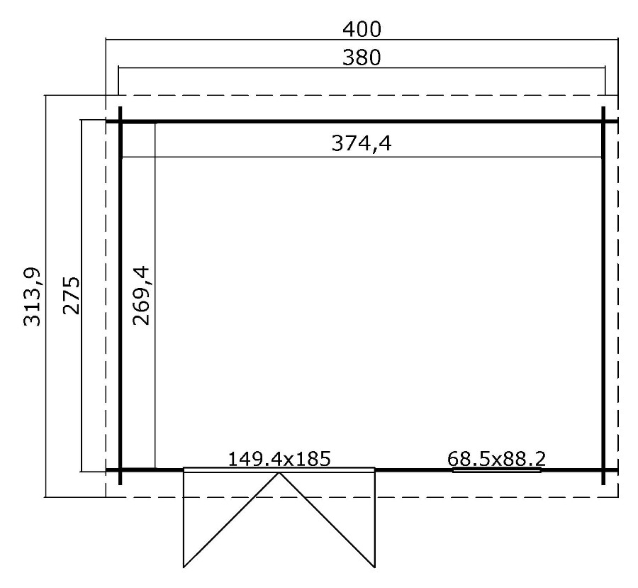 lasita maja gartenhaus amira 272 1002522. Black Bedroom Furniture Sets. Home Design Ideas