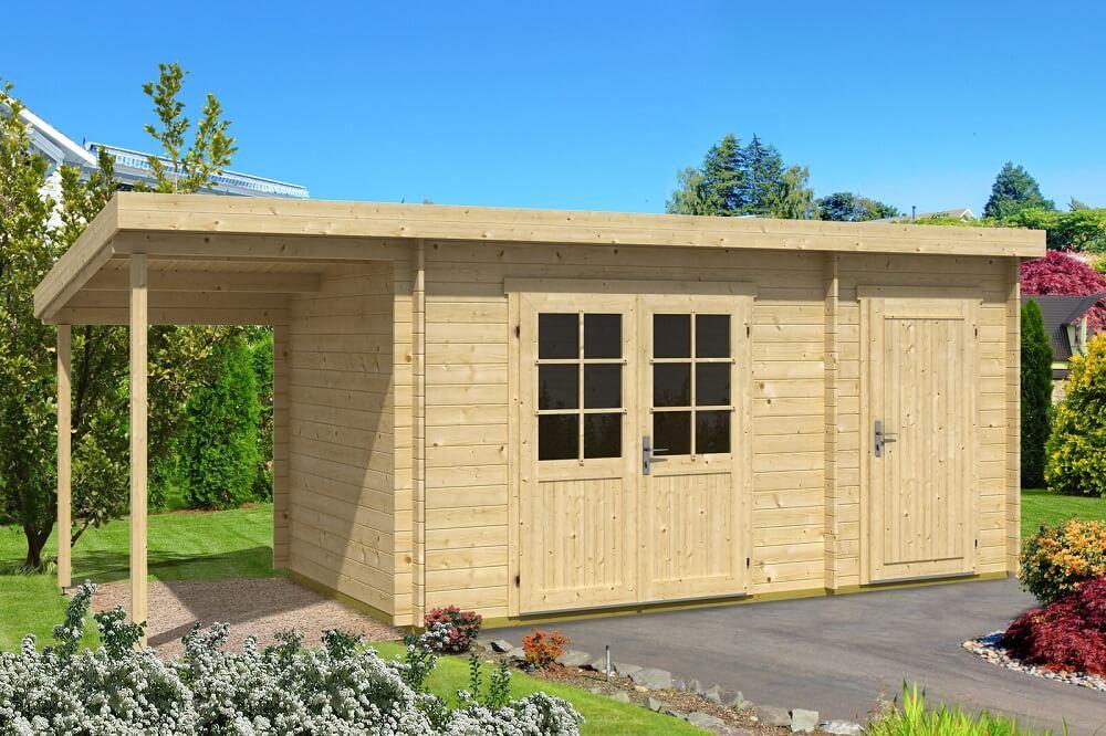 Pultdach gartenhaus maria 28 mit anbau schleppdach pultdach gartenhaus maria 28 mit anbau - Gartenhaus mit pultdach selber bauen ...