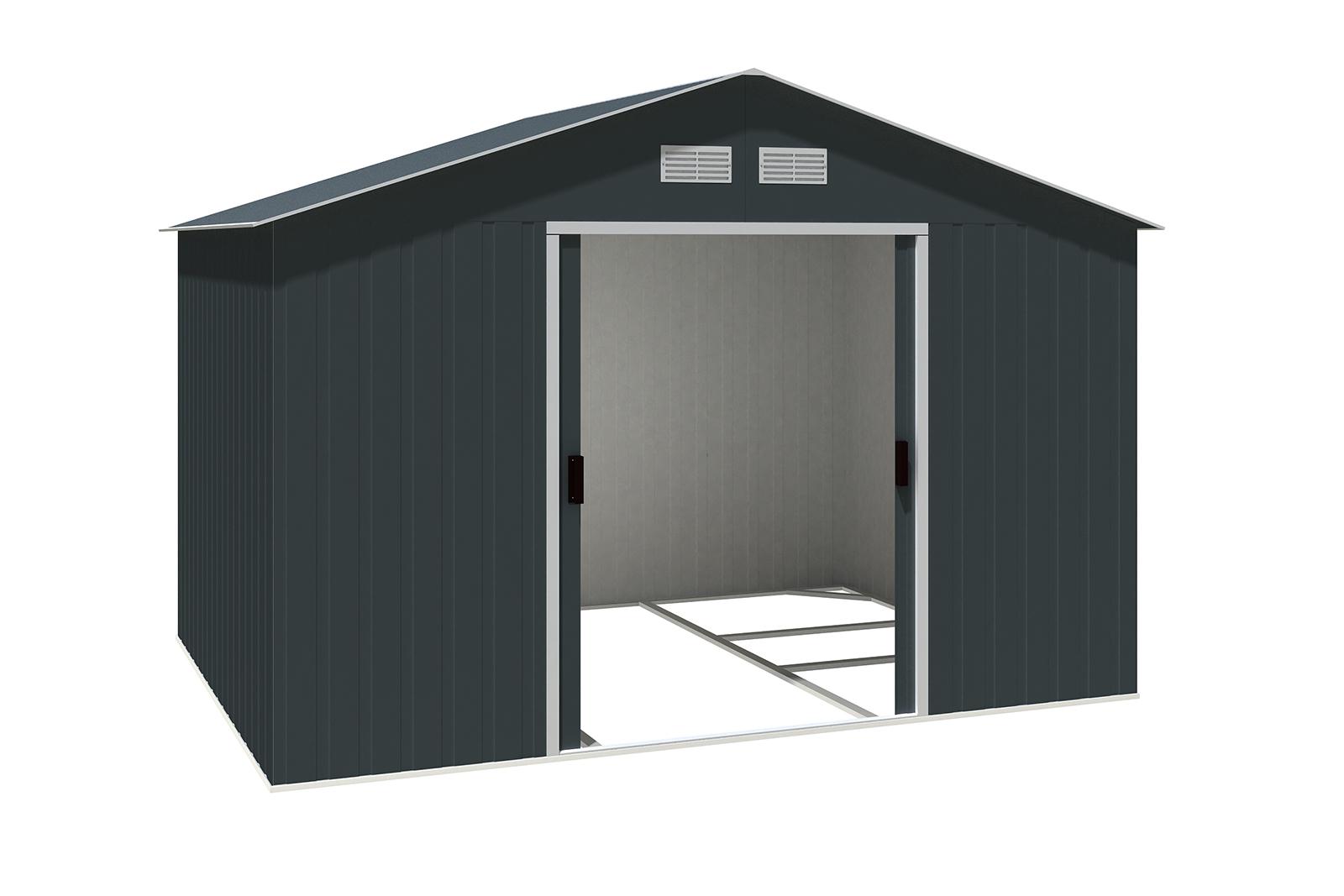 metallger tehaus colossus 10x8 anthrazit 7246. Black Bedroom Furniture Sets. Home Design Ideas