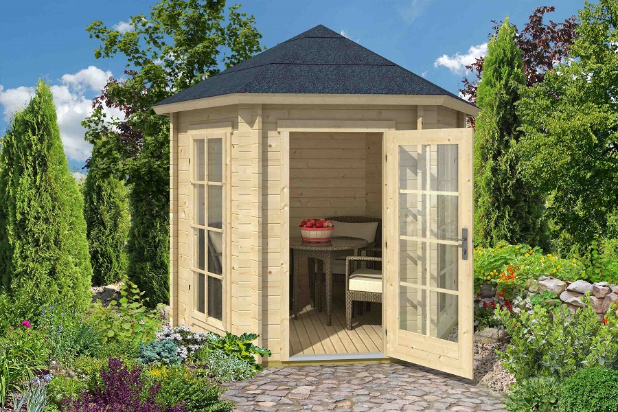lasita maja gartenpavillon inverness 44 iso. Black Bedroom Furniture Sets. Home Design Ideas