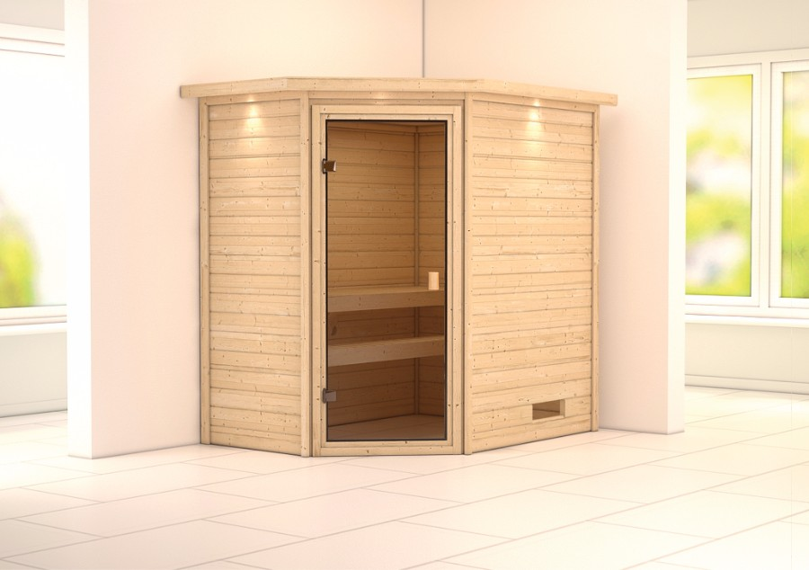 karibu sauna innenkabine cilja. Black Bedroom Furniture Sets. Home Design Ideas