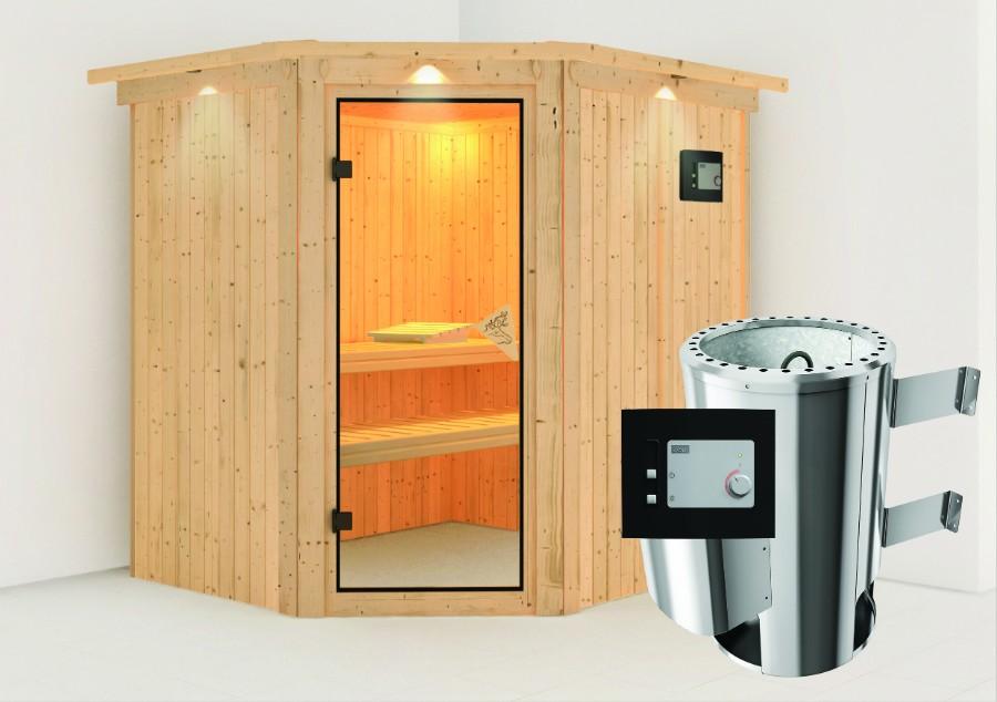 karibu sauna innenkabine lilja. Black Bedroom Furniture Sets. Home Design Ideas