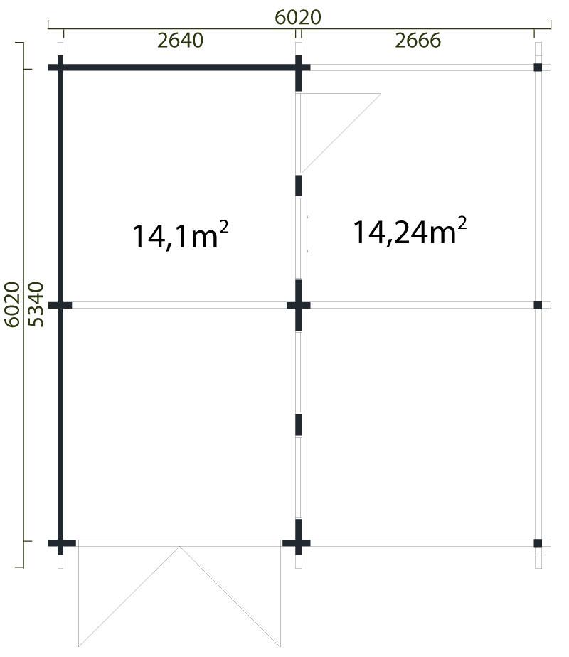 holzgarage v stervik mit carport 70. Black Bedroom Furniture Sets. Home Design Ideas