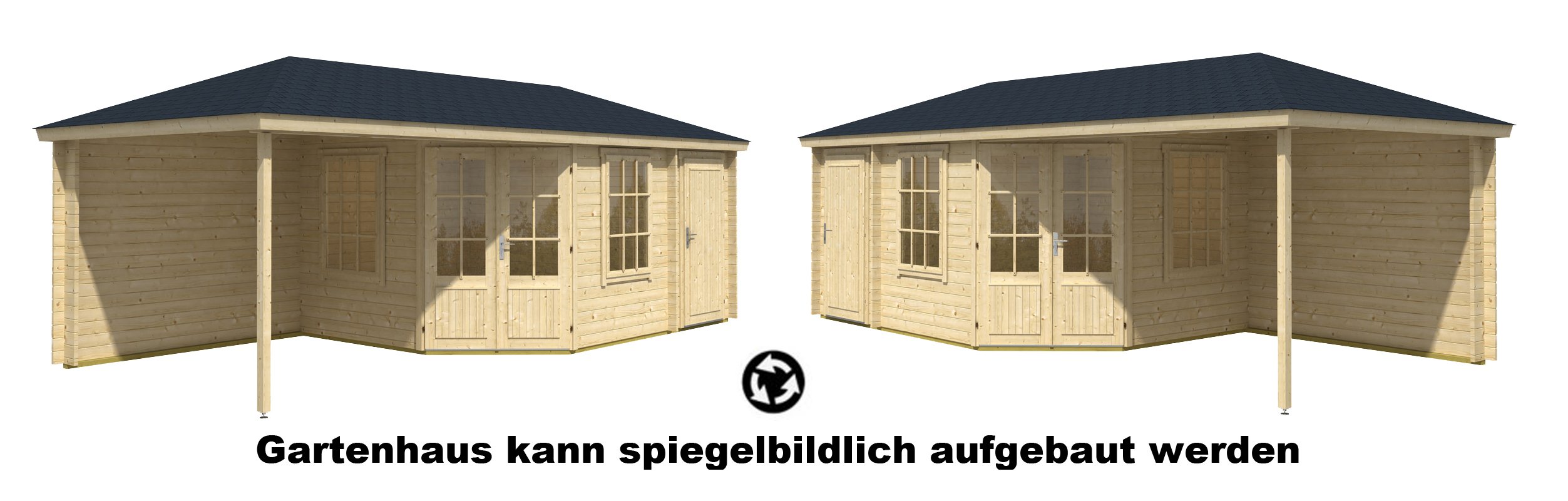 5 eck gartenhaus modell rhein 40 mit anbau 5 eck. Black Bedroom Furniture Sets. Home Design Ideas