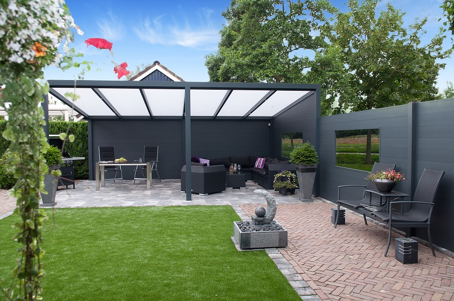 terrassen berdachung freistehend 400 x 500 cm a z gartenhaus gmbh. Black Bedroom Furniture Sets. Home Design Ideas
