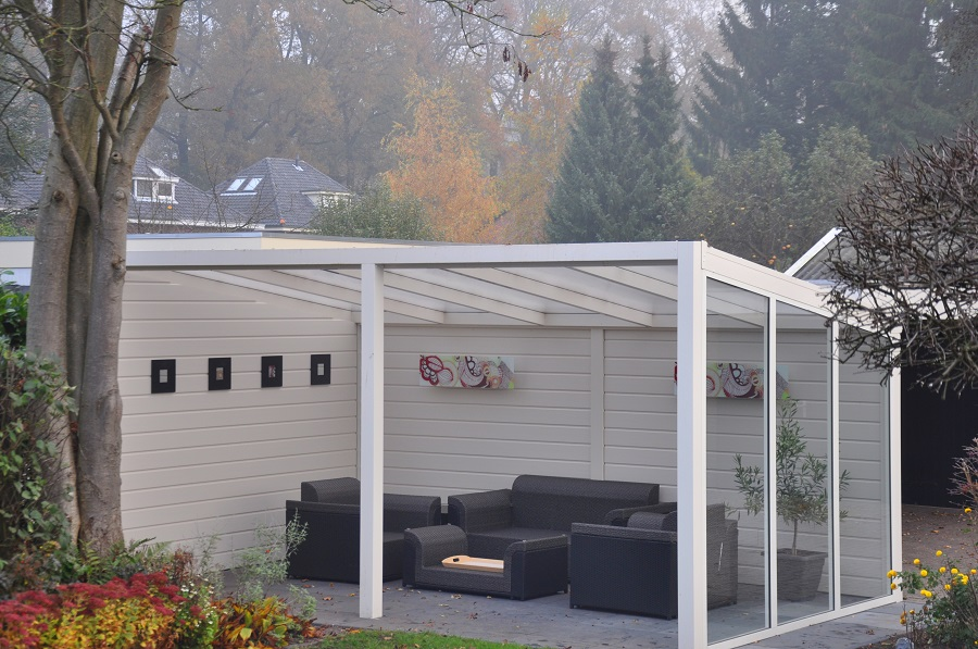 terrassen berdachung freistehend mit polycarbonat. Black Bedroom Furniture Sets. Home Design Ideas