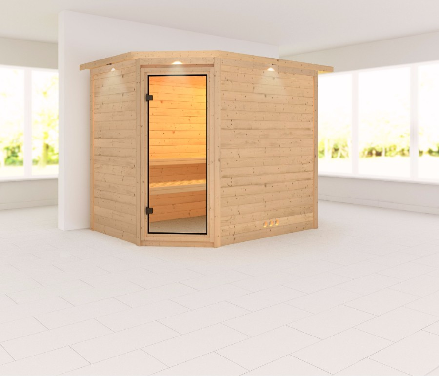 karibu sauna innenkabine tanami. Black Bedroom Furniture Sets. Home Design Ideas