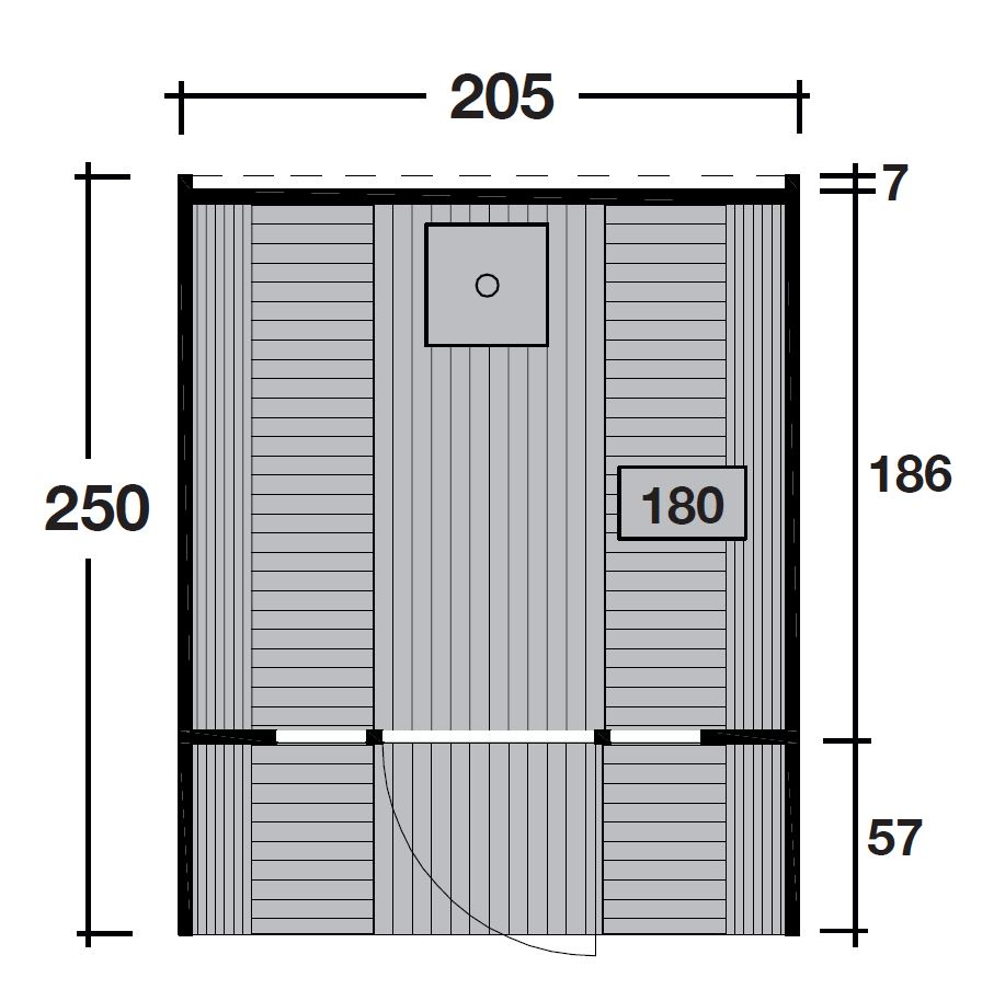 wolff finnhaus saunafass 250. Black Bedroom Furniture Sets. Home Design Ideas
