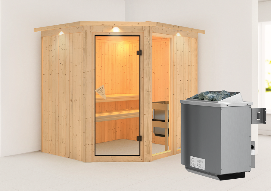 karibu sauna innenkabine fiona. Black Bedroom Furniture Sets. Home Design Ideas