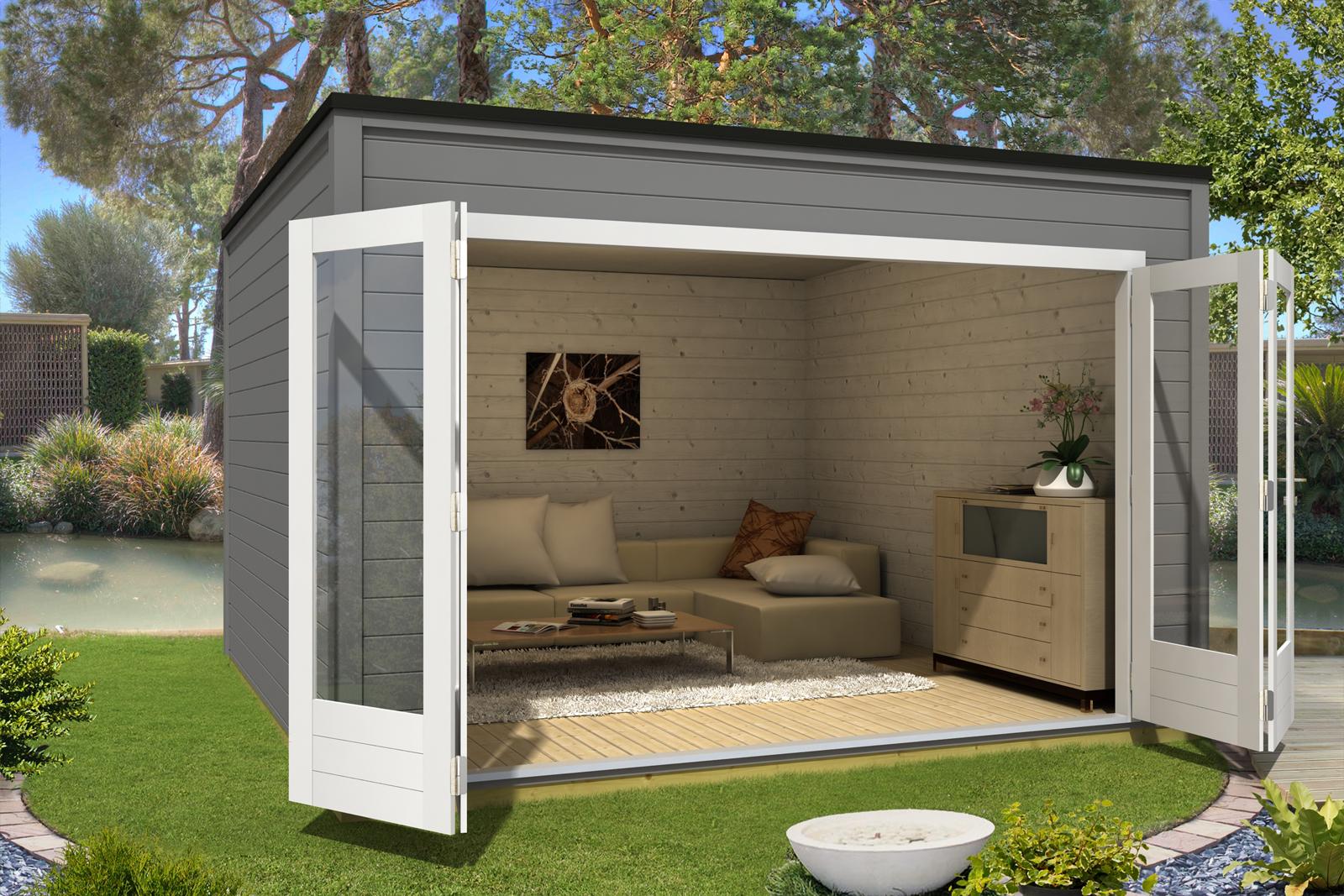 design gartenhaus cubus olymp 44 iso. Black Bedroom Furniture Sets. Home Design Ideas