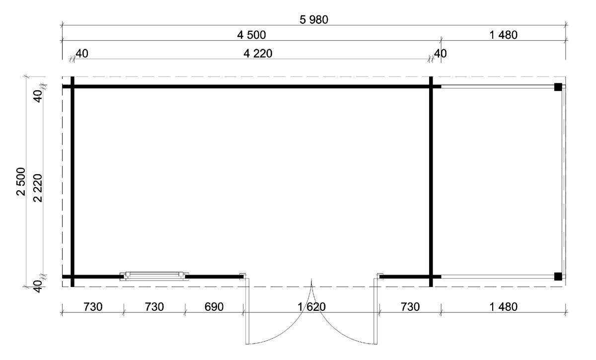 gartenhaus york 40 mit schleppdach. Black Bedroom Furniture Sets. Home Design Ideas