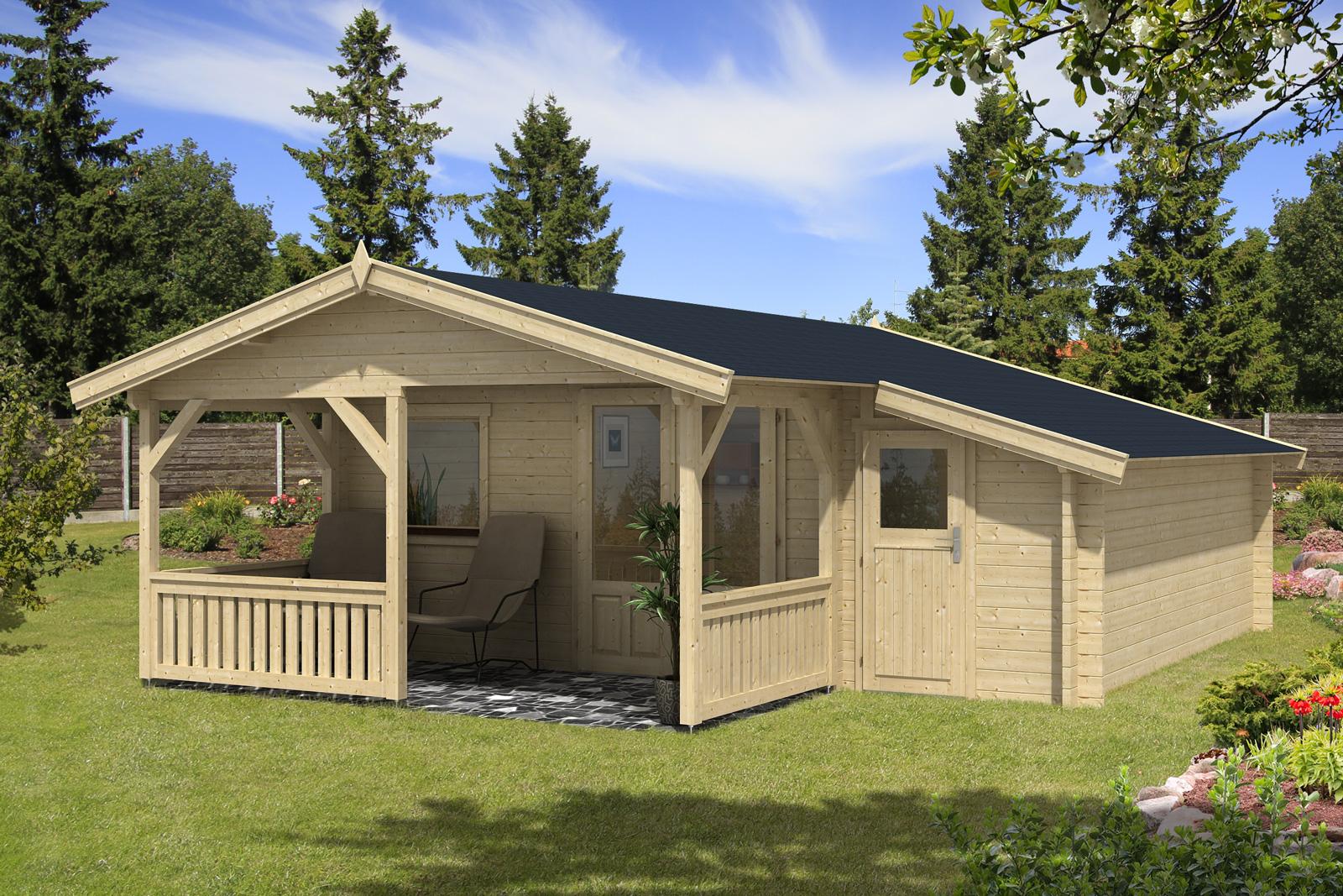 gartenhaus flex 50 c mit 200cm terrasse anbau 4x5 2z. Black Bedroom Furniture Sets. Home Design Ideas