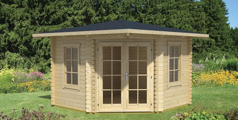 lasita maja 5 eck gartenhaus aruba 1. Black Bedroom Furniture Sets. Home Design Ideas