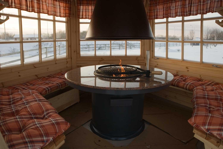 6 eck grillpavillon scandia 6m. Black Bedroom Furniture Sets. Home Design Ideas