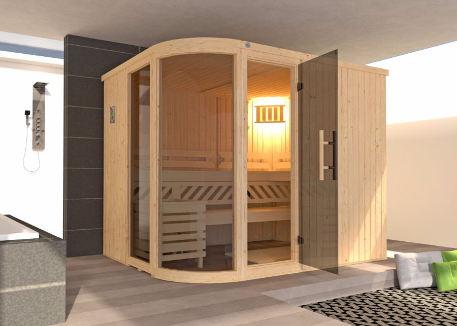 weka elementsauna sara. Black Bedroom Furniture Sets. Home Design Ideas