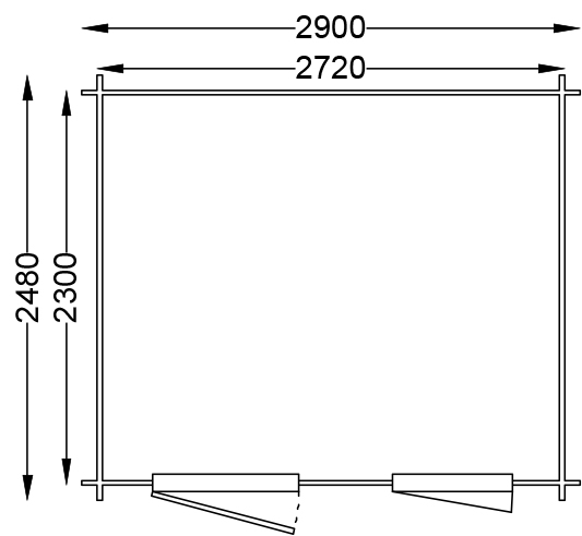 lasita maja gartenhaus nina 230 1002526. Black Bedroom Furniture Sets. Home Design Ideas