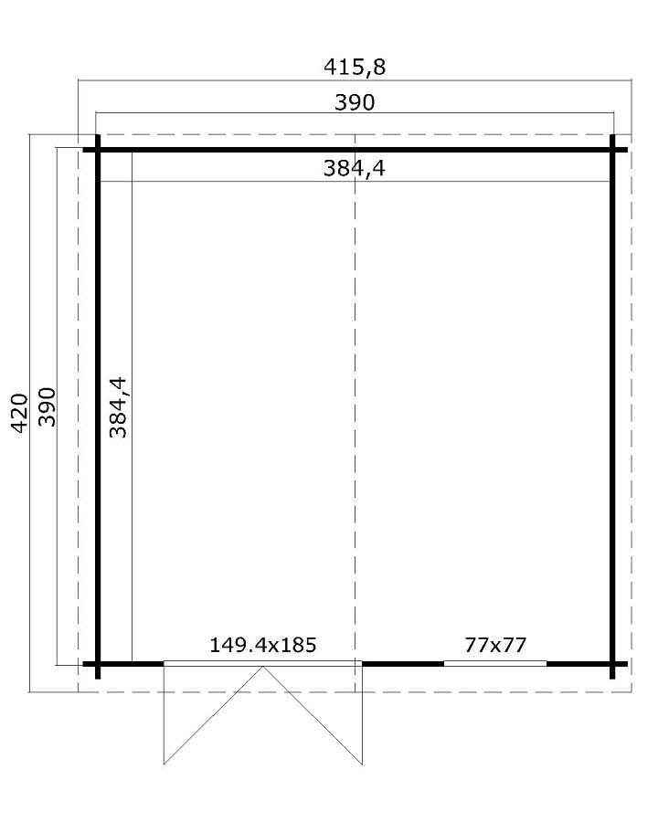 lasita maja gartenhaus ebro c 2814050. Black Bedroom Furniture Sets. Home Design Ideas
