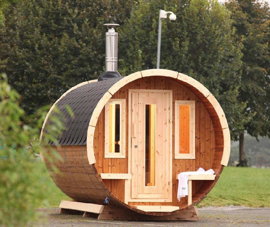 wolff finnhaus saunafass 280 de luxe montiert 310 645. Black Bedroom Furniture Sets. Home Design Ideas