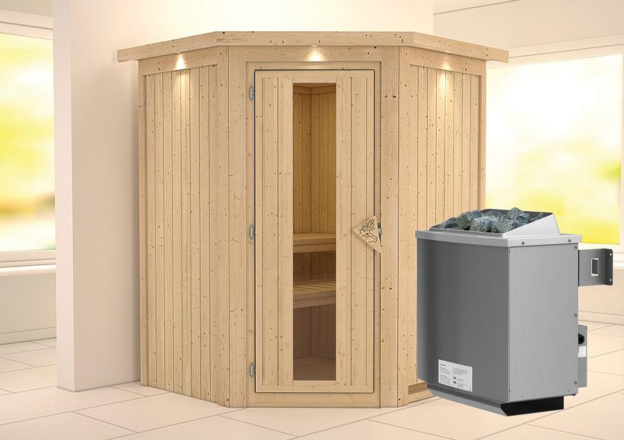 karibu sauna innenkabine larin. Black Bedroom Furniture Sets. Home Design Ideas