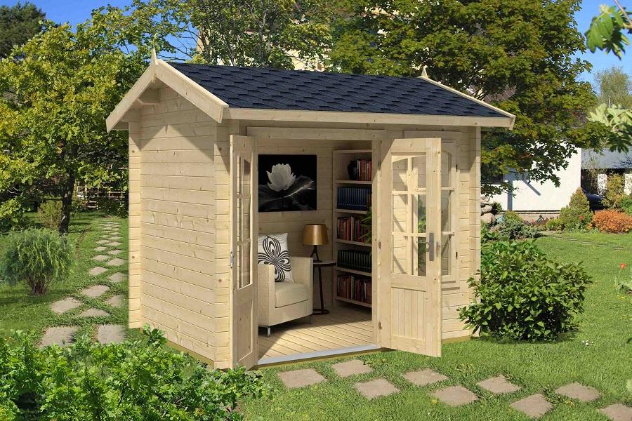 lasita maja gartenhaus alex mini iso 4416540. Black Bedroom Furniture Sets. Home Design Ideas